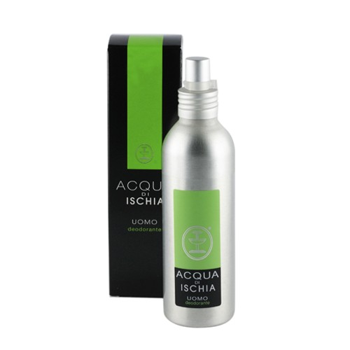 ISCHIA COSMETICI NATURALI   Мужской дезодорант-спрей с натуральным маслом лимона Deodorante Acqua d'Ischia uomo, 150 мл